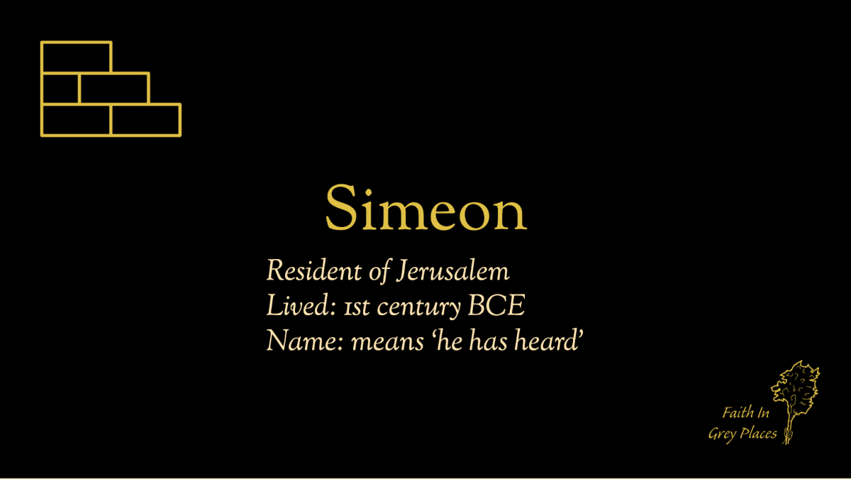 Simeon; Resident of Jerusalem; Lived: 1st century BCE; Name: means 'he has heard'