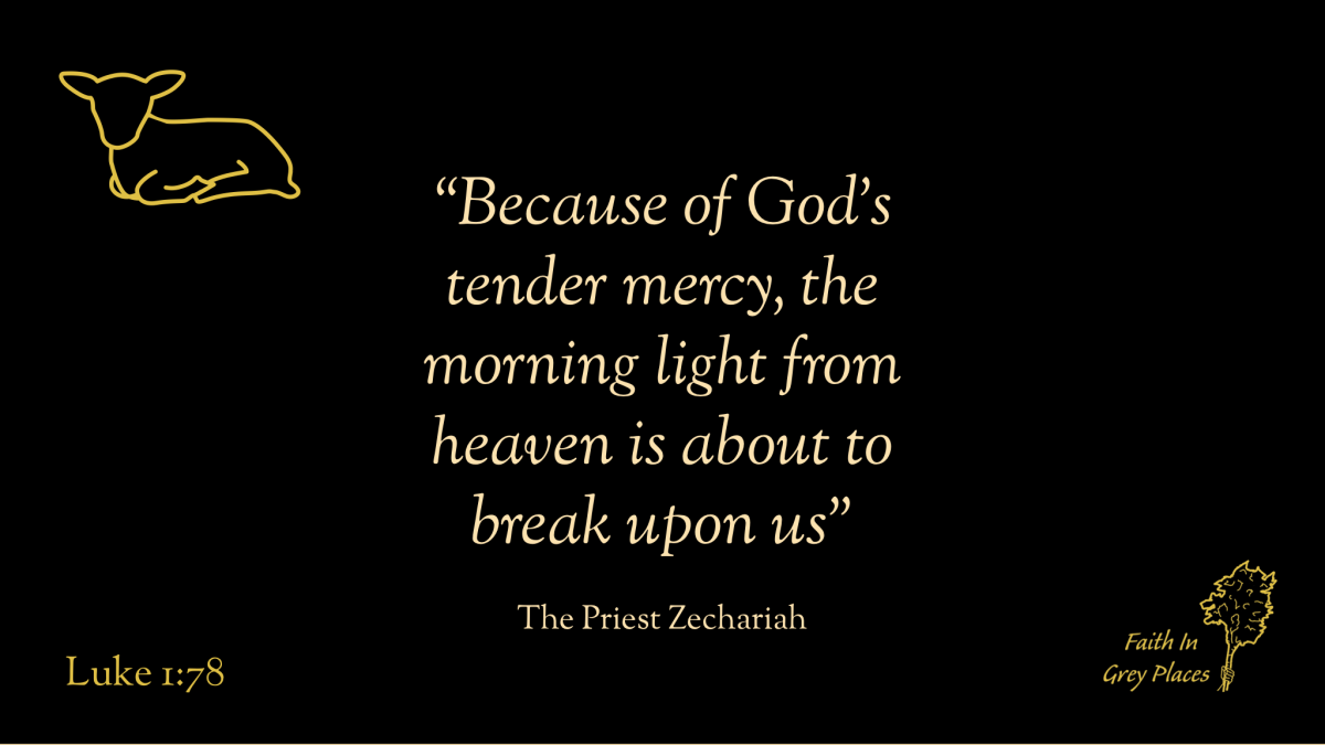 """""""Because of God's tender mercy, the morning light from heaven is about to break upon us"""" The Priest Zechariah, Luke 1:78"""